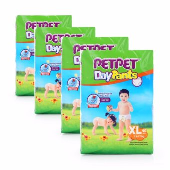 PetPet Jumbo Pack Day Pants (12-17kg) XL 40pcs x 4packs(Orange XL)