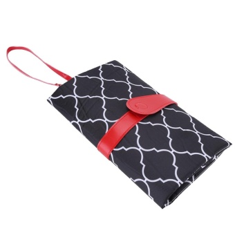 Portable Baby Diaper Changing Pad Travel Nappy Bag Black - intl