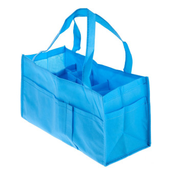 Portable Baby Diaper Nappy Changing Organizer Insert Storage Bag (Blue)