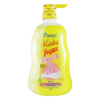 Harga Pureen Yogurt Head To Toe Wash Natural 750ml bottle