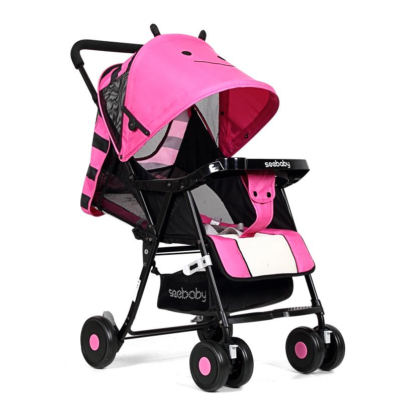 Seebaby QQ3 Lightweight Stroller (Little Bee Pink) Singapore