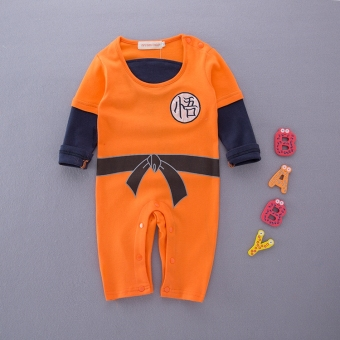 Spring and Autumn models baby Li Xiaolong style leotard baby romper newborn children Wu Kong clothes seven Dragon Ball clothes