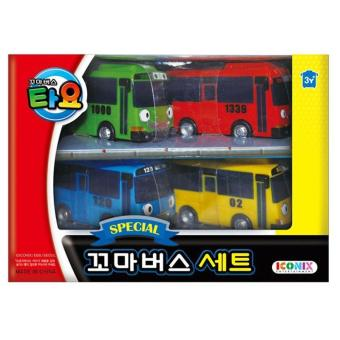 Harga The Little Bus TAYO ICONIX Special Mini Set (Tayo+Rani+Gani+Rogi) - intl