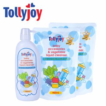 Harga Tollyjoy Baby Accessories and Vegetable Liquid Cleanser + 2 Refill Packs