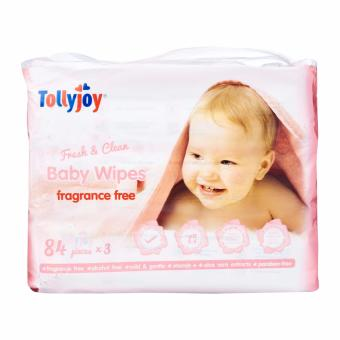 Harga Tollyjoy Fresh and Clean Baby Wet Wipes Refill 3 x 84 per pack