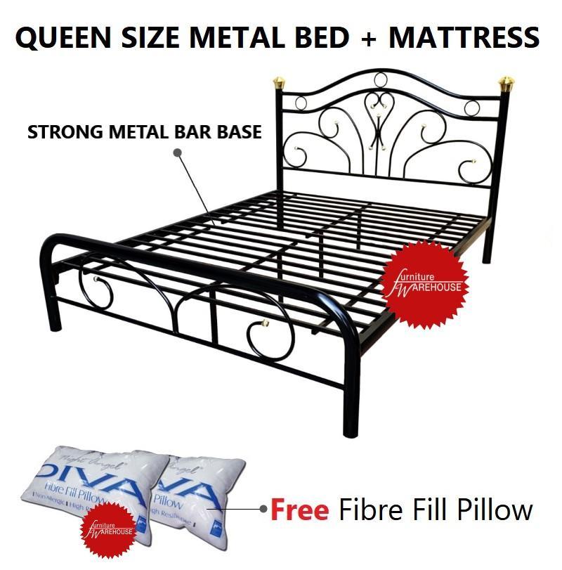 Sandra Queen Size Metal Bed Frame