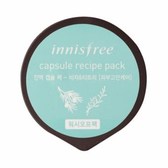 Harga [1 Capsule] Innsifree Bija & Tea Tree Capsule Recipe Mask 10ml