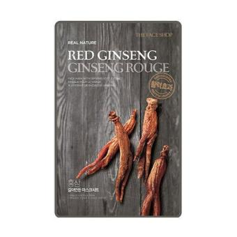 Harga 10 Sheets The Face Shop Real Nature Mask - Red Ginseng