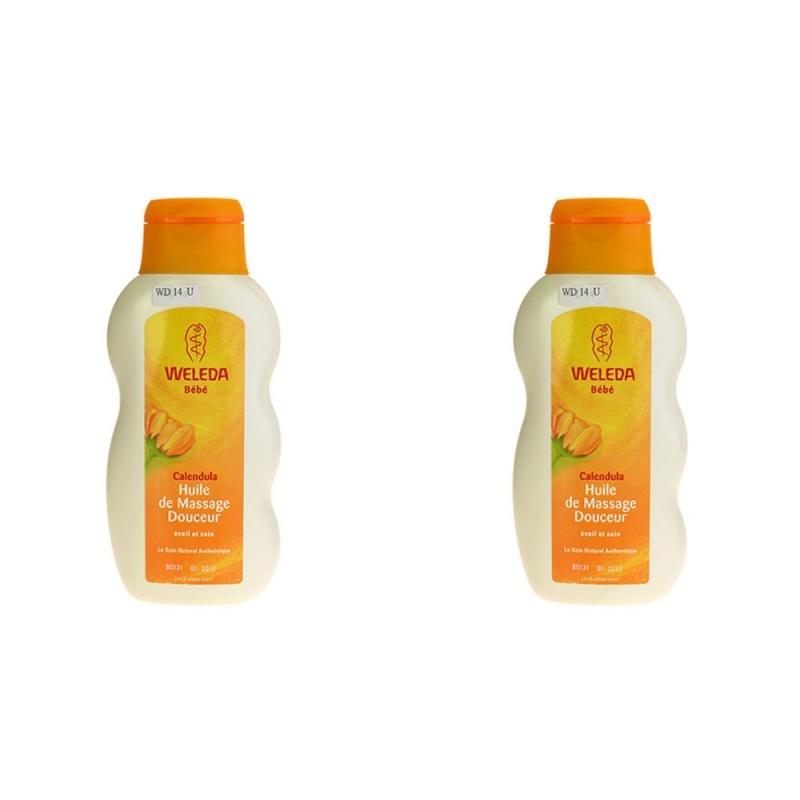 Buy 2 PCS Weleda Baby Calendula Oil 200ml Bath & Body Massage Oil NEW #2389 - intl Singapore