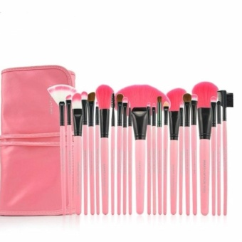 24pcs Professional Make-up Brush Set (Pink) makeup brush - intl