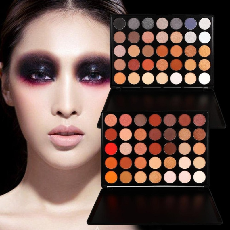 Buy 35 Color Earth Warm Color Shimmer Matte Eyeshadow Palette Makeup Eye Shadow - intl Singapore