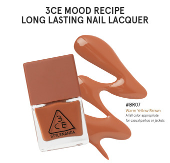 Harga 3CE MOOD RECIPE LONG LASTING NAIL LACQUER #BR07