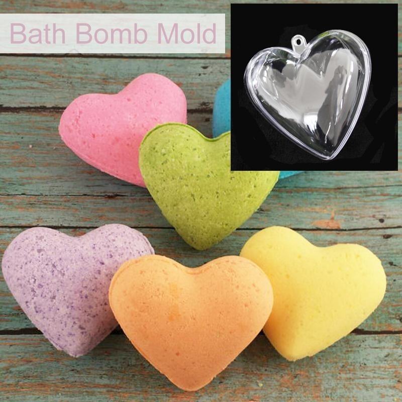 Buy 80mm DIY Clear Plastic Bath Bomb Mould Acrylic Mold Heart Shape Hot - intl Singapore