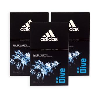 Harga Adidas MEN EDT - Ice Dive EDT Perfume 100ml x 3 bottles - 7498