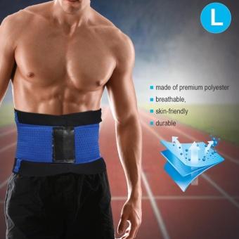 Adjustable Waist Guard Back Brace Support Protector Lumbar Belt(Blue-L) - intl - 5