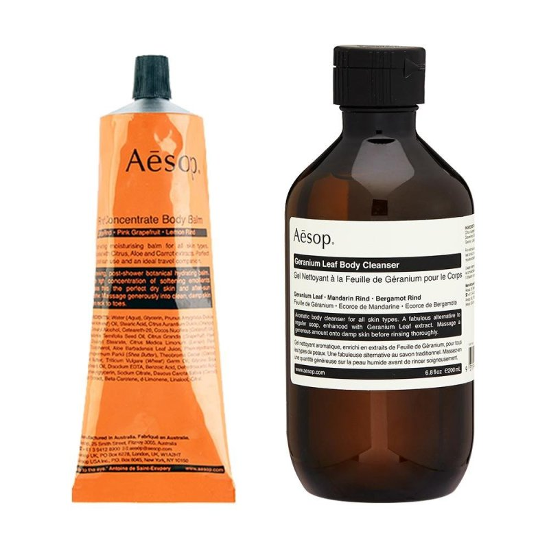 Buy Aesop Rind Concentrate Body Balm 4oz,120ml + Geranium Leaf Body Cleanser 200ml - intl Singapore
