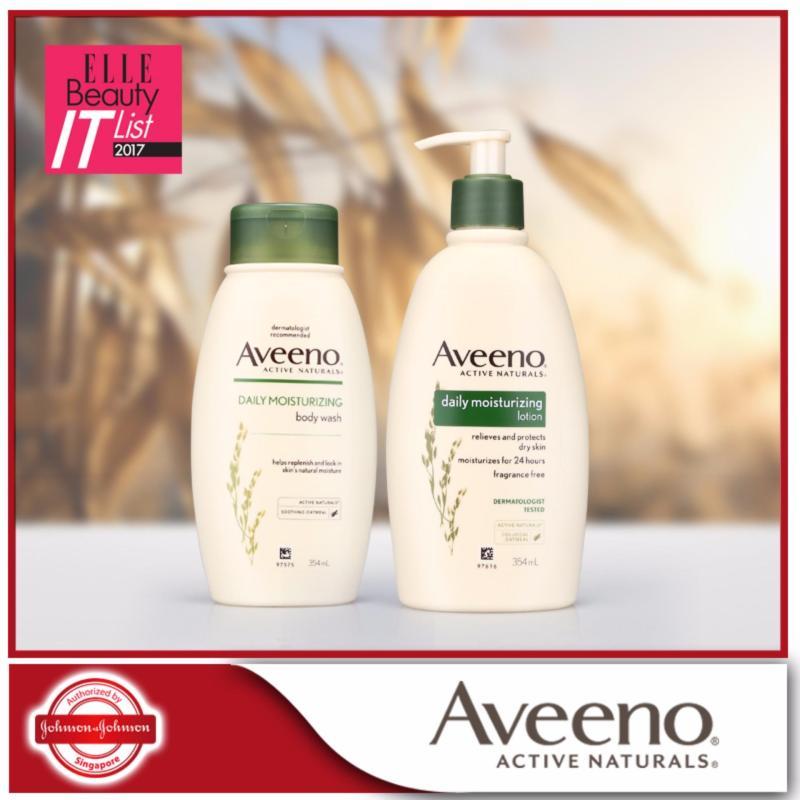 Buy Aveeno Body Wash Daily Moisturizing 354ml + Aveeno Body Lotion Daily Moisturizing 354ml Singapore