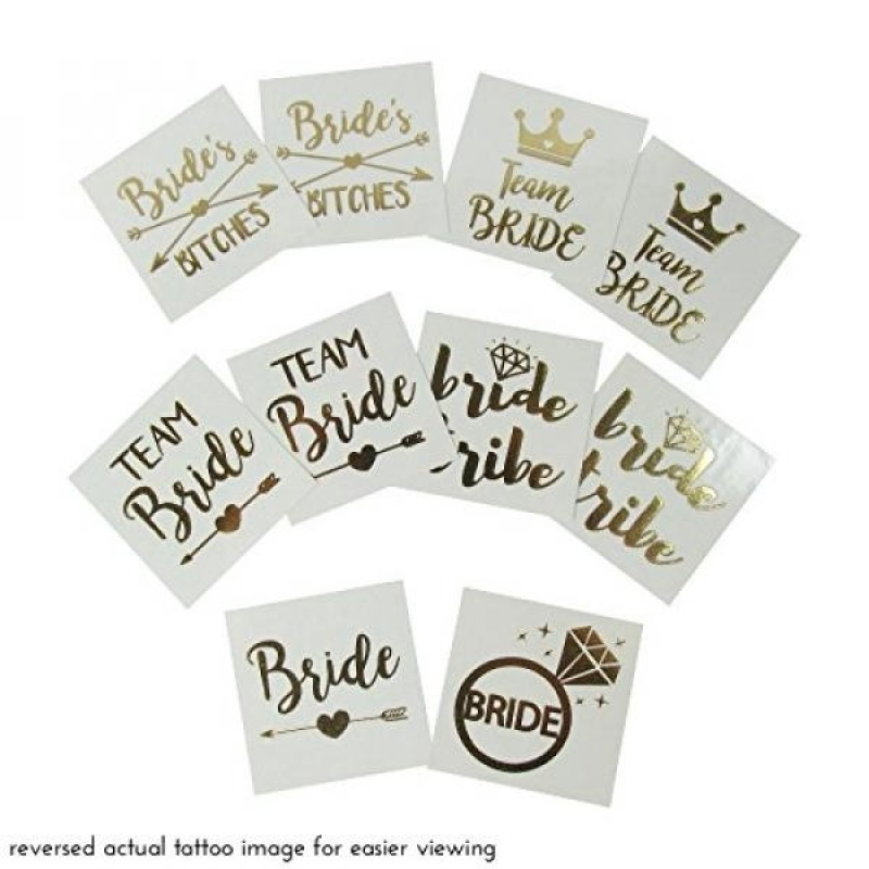 Buy Bachelorette Party Tattoo, Bridal Shower Supplies For Bridesmaids, Gold Metallic Temporary Tattoos Favors - intl Singapore