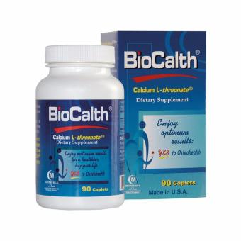 BioCalth Calcium L-Threonate Dietary Supplement 90 Caplets - A Natural Way for Bone Health