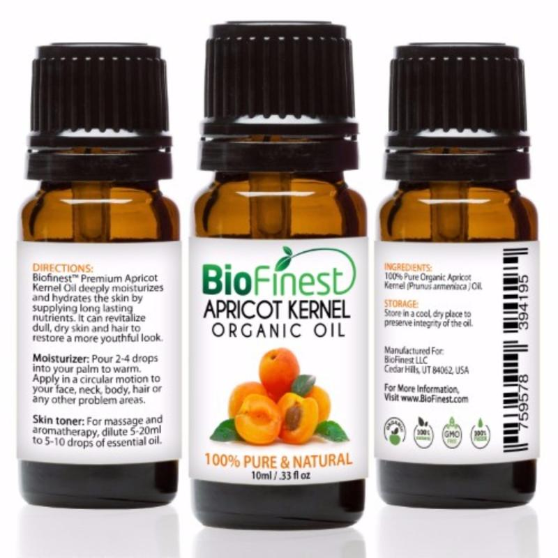 Buy Biofinest Apricot Kernel Organic Oil (100% Pure Organic Carrier Oil) 10ml Singapore