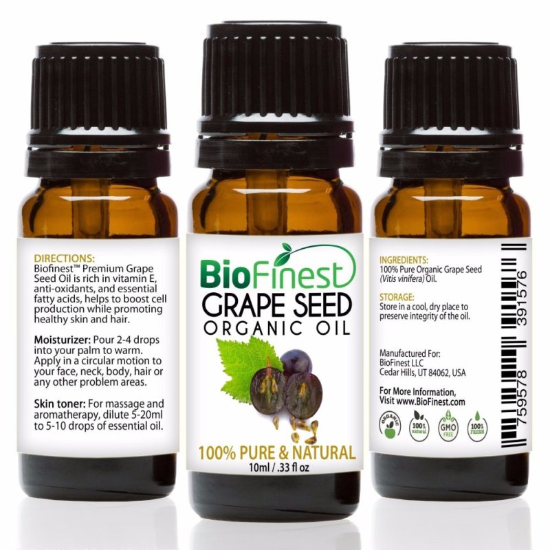 Buy Biofinest Grapeseed Organic Oil (100% Pure Organic Carrier Oil) 10ml Singapore