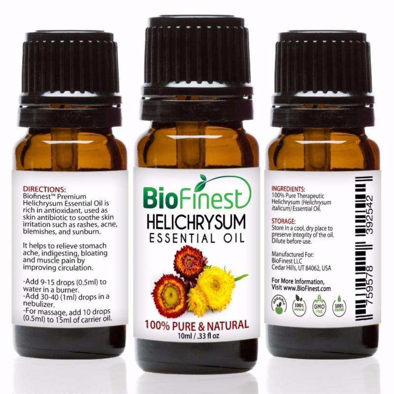 Buy Biofinest Helichrysum Essential Oil (100% Pure Therapeutic Grade) 10ml Singapore