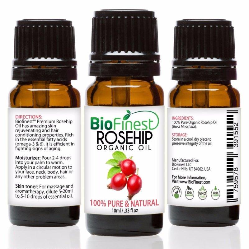 Buy Biofinest Rosehip Organic Oil (100% Pure Organic Carrier Oil) 10ml Singapore