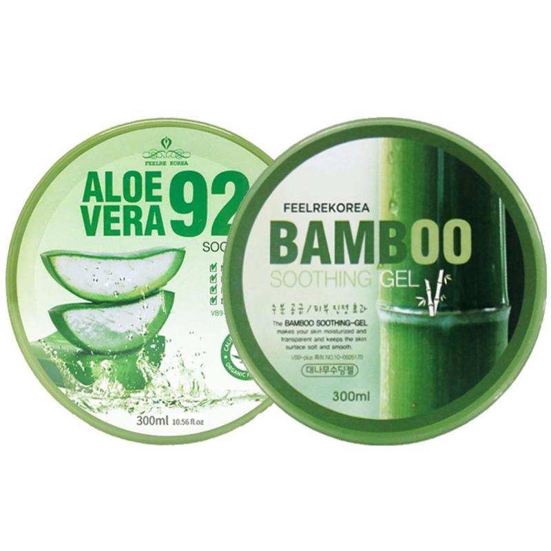 Buy [BUNDLE DEAL] 2 Feelrekorea SOOTHING GEL Aloe Vera + BAMBOO (300g) Singapore