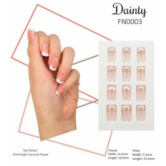 [BUY 1 FREE 1] - Pre-Glued Beauty Press Nails - French Nails
