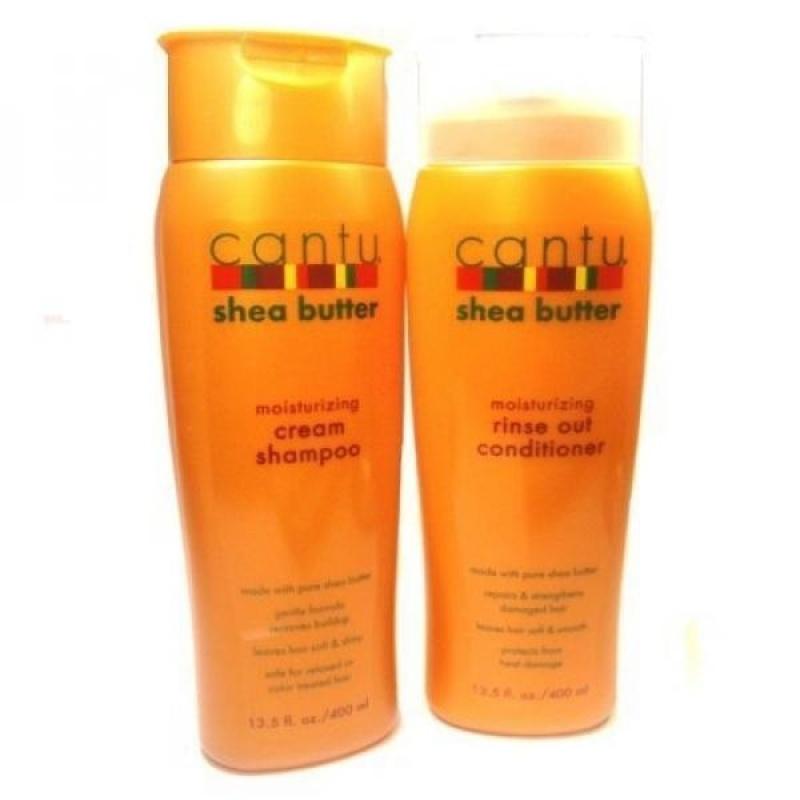 Buy Cantu Moisturizing Cream Shampoo 13.5 oz & Moisturizing Rinse Out Conditioner 13.5 oz - intl Singapore