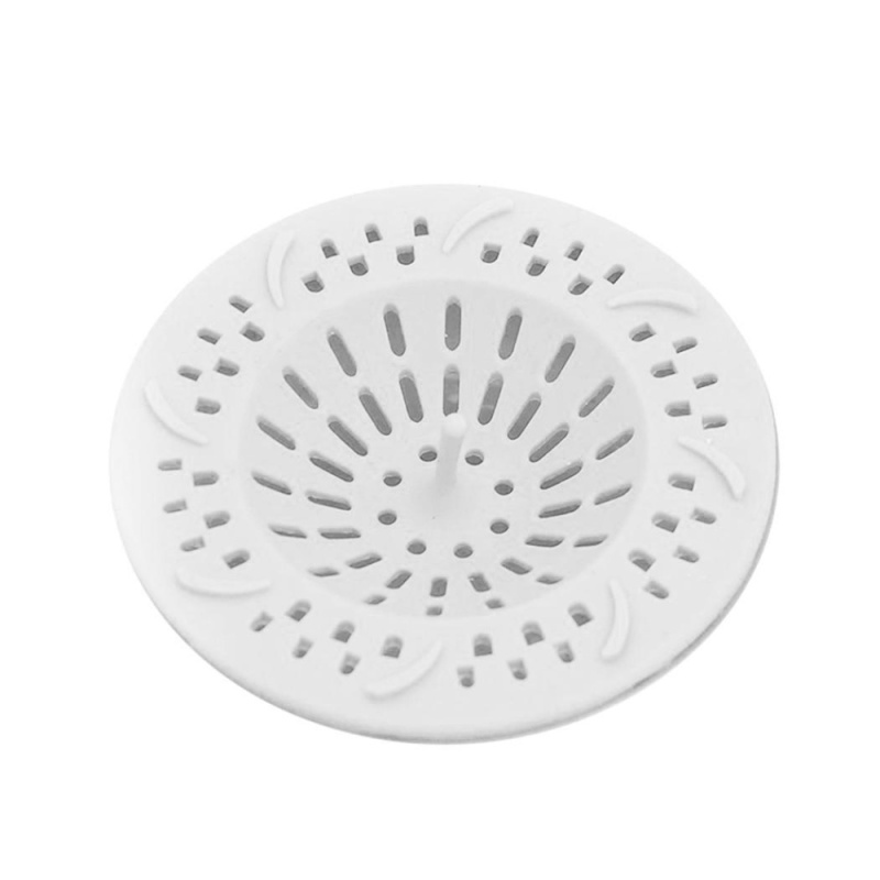 Buy Cyber Big Discount Silicone Sink Sewer Floor Drain Cover Hair Catcher Filter Bathroom Strainer( White ) - intl Singapore