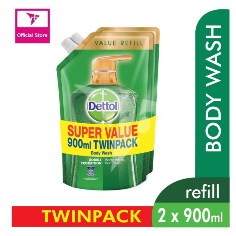 Buy Dettol Body Wash Pouch Classic Clean 900Ml Twin Pack Singapore