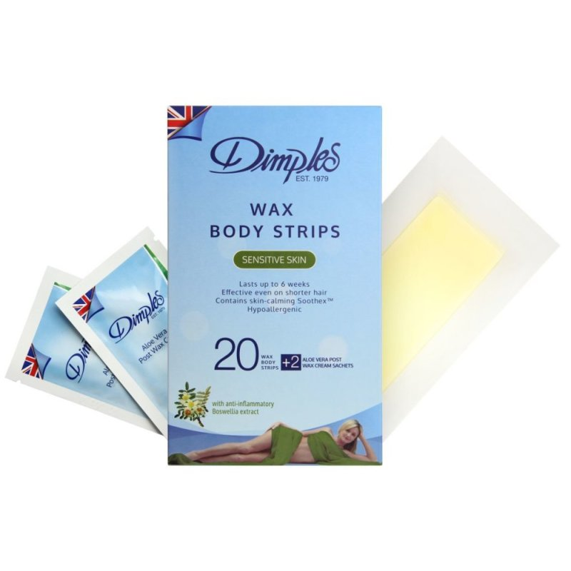 Buy Dimples Wax Body Strips (20) for Sensitive Skin Singapore