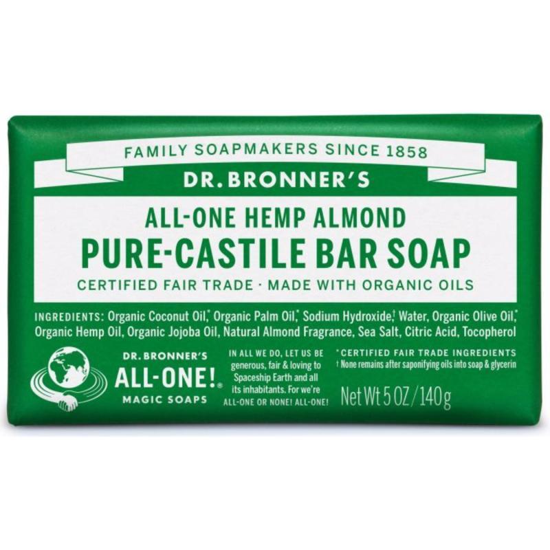 Buy Dr Bronners Magic Castile Bar Soap 5oz Almond Singapore