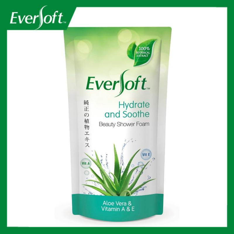 Buy Eversoft Aloe Vera & Vitamins A & E Beauty Shower Foam 600ml Singapore