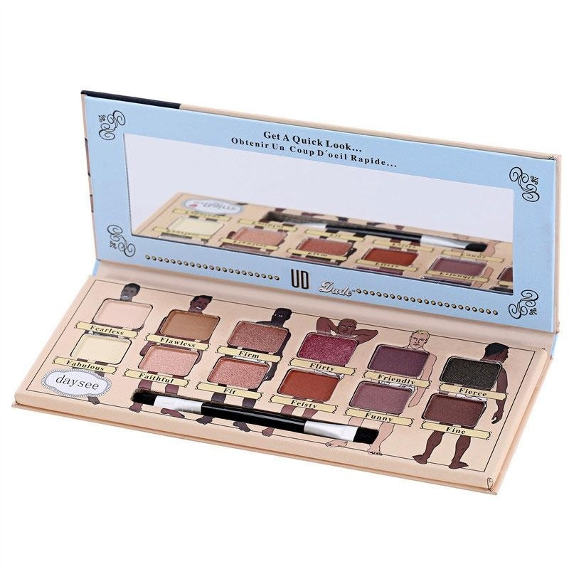 Buy Eyeshadow Shimmer Palette Eye Eyes with Brush Makeup Cosmetic 12-color - intl Singapore
