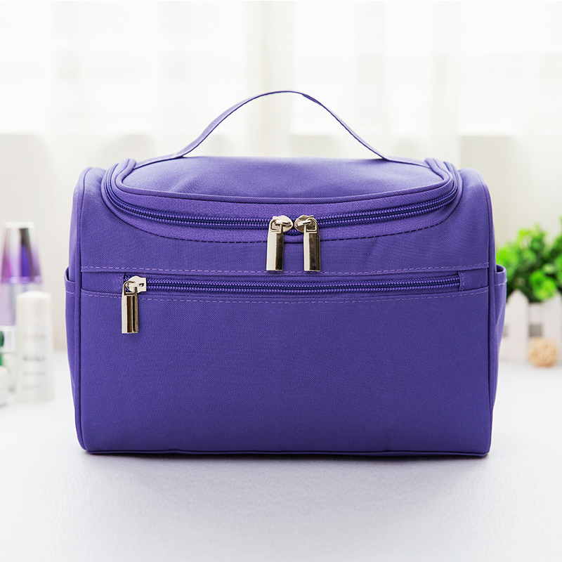 Buy Fashion solid color portable cosmetic bag travel wash bag Singapore