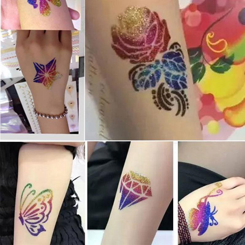 Buy Fashion Tattoo Kit Sparkling 24 Colors Cosmetic Shimmer Glitter Powder - intl Singapore