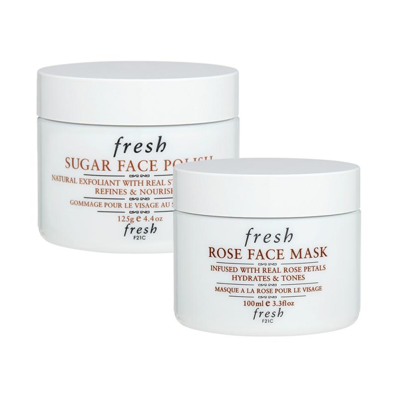 Buy Fresh Rose Face Mask + Sugar Face Polish  (1 set, 2 pcs) Singapore