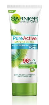 Harga Garnier Pure Active Matcha Foam 100ml
