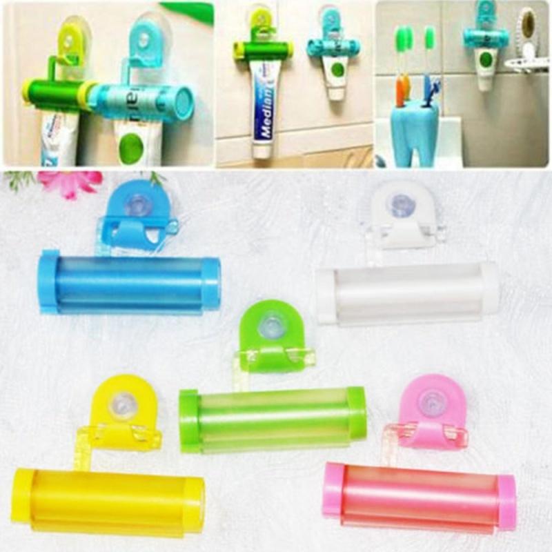Buy Gethome Plastic Sucker Hanging Rolling Squeezer Toothpaste Dispenser - intl Singapore