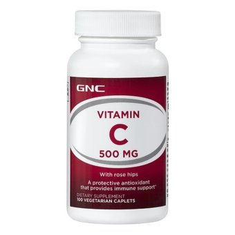 Harga GNC Vitamin C 500 with Rose Hips 90's