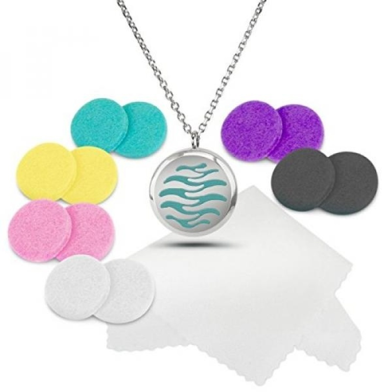 Buy GPL/ AROMATHERAPY ESSENTIAL OIL DIFFUSER NECKLACE + 12 Free Pads and Polishing Cloth from Aristocrat. Beautiful Design with Secure Locket - Great Luxury GIFT for someone special/ship from USA - intl Singapore