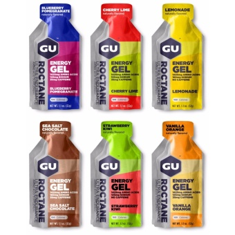 GU Roctane Energy Gel Assorted 24 Pack With Free Gift