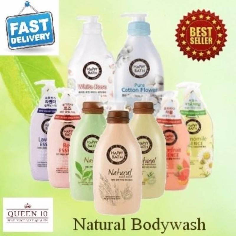 Buy Happy Bath Body Wash White Rose Essence 900ml Bundle with Happy Bath Body Wash Grapefruit Essence 900ml Singapore