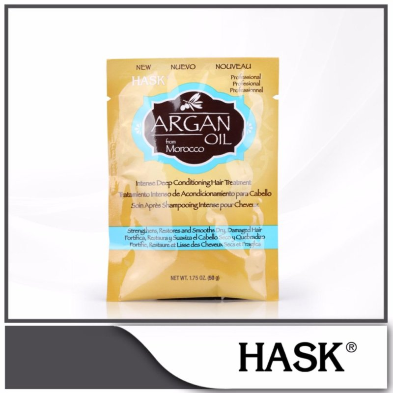 Buy HASK Argan Oil from Morocco Intense Deep Conditioning Hair Treatment Pack 50g Singapore