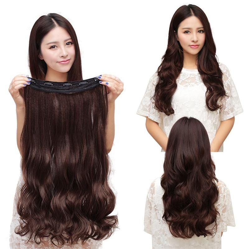 Buy Hight Quality Store New 60cm Clip In Synthetic Human Hair