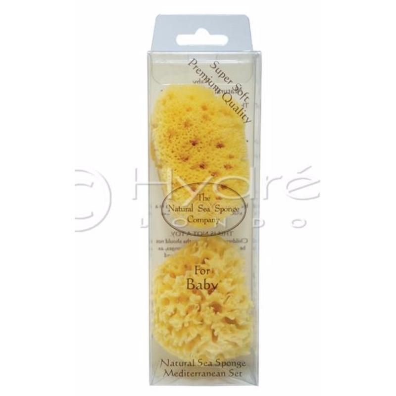 Buy Hydrea London Baby Sea Sponge set, Mediterranean Origin - 1 x HC/3 & 1 x FS/3 in Hanging Tube Singapore