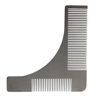 Andux Men's Beard Comb Stainless Steel Beard Styling Shaping Template BXGSZ-01 Silver - intl