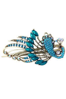 Harga Jetting Buy Women Hair Clips Vintage Rhinestone Peacock Blue